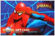 UNIVERSAL STUDIO FLORIDA ORLANDO SPIDERMAN MOVIE RARE COLLECTIBLE GIFT CARD