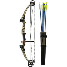 Genesis 12244 Kids Righthand Mini Bow Kit with Belt Tube Quiver & Arrows,