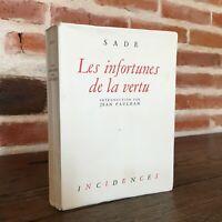 Sade Las Infortunes de La Vertu Incidences Tirada Justificado 1946