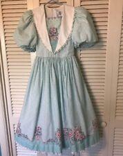 Daisy Kingdom Factory Made Dress Mint Green Pink White Stripes Polka dot