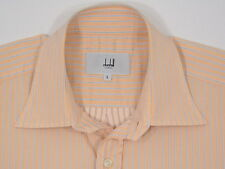 Mens Alfred Dunhill L/S Cotton Peach w/ Gray Stripes Large PORTUGAL NU COND