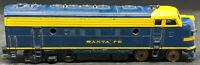 REVELL Santa Fe  F7A Diesel Locomotive. HO Scale, for Repair. vintage BLUE / YEL