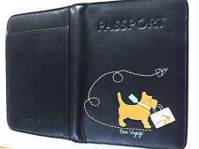 Radley Passport Holder Black Leather Bon Voyage Soft Leather Tan Brown Inside
