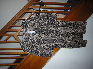 LADIES ANIMAL PRINT 3/4 SLEEVE COLLARED DRESS SIZE 18 BRAND NEW WITH TAGS