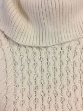 American Eagle Outfitters AEO womens sweater XS cable knit cowl turtleneck cream