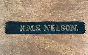 WW1 British Royal Navy HMS Nelson Cap Tally