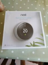 Nest Learning Thermostat 3rd Generation - Stainless Steel