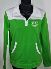 Vtg Nike 1972 Woman White/ Green Front Pocket Pullover Fleece Sweater Sz M(8-10)