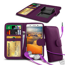 For HTC Sensation XL - Clip On PU Leather Wallet Case & Earphone