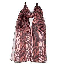 Chiffon Satin Ladies Womens Abstract Flower Design Scarf Shawl Wrap