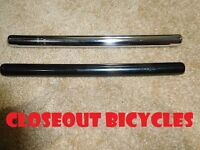 """Black or Chrome 22.2mm Steel Seat Post 7/8"""" Cruiser BMX Bicycle Seatpost"""