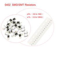 1/16W 0402 SMD/SMT Resistors ±1% or ±5% (0Ω ~ 1MΩ)Full Range of Values 50/100Pcs
