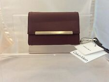 CALVIN KLEIN  Leather wallet purse with gold Calvin Klein logo - brand new