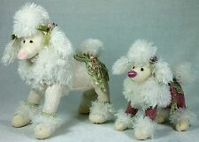 Beautiful Pink Poodle Stuffed Toy with Beading and Guipure Lace DOG 8131 New