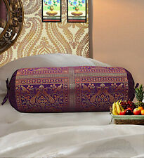 Indian Silk Bolster Red Cushion Yoga Neck Sofa Bed Sofa Pillow Cover Cylinder 30