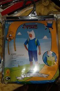 Adventure Time Finn Child Halloween Costume  Boys M(8) New!