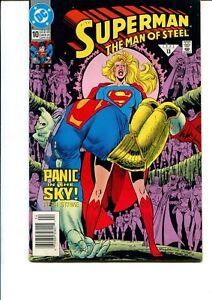 SUPERMAN: THE MAN OF STEEL #10 FN.VF
