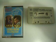 LOUIS ARMSTRONG & DUKE ELLINGTON K7 AUDIO TAPE CASSETTE.THE GREAT REUNION.