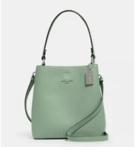 💙 Coach WASHED GREEN Small Town Bucket Bag Crossbody Purse Crossbody Handbag NW