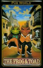 Tin Sign Nostalgic Plate Frog and Toad London Pub Frog 20x30 cm
