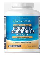 Probiotic Acidophilus 3 Billion Live Cells Made in USA 250 Capsule Healthy Colon
