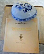 Royal Franconia Danbury Mint Decorative Pocrelain Hand Painted Egg Box Iob