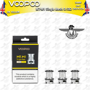 VOOPOO MT-M1 SINGLE MESH COIL 0.13 OHM – PACK OF 3