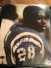 Marshall Faulk Indianapolis Colts Signed Auto 8x10 Photo CAS Certified Autograph