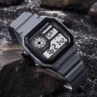 Waterproof  Men's Sport Multi Function LED Electronic PU Plastic Digital Watch