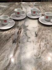 illy Espresso Logo 2 Oz Set Of 4 EUC