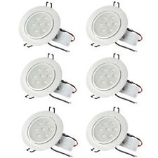 6X 7W LED Ceiling Down Light Fixture Recessed Lamp Spotlight Cool White 110-220V