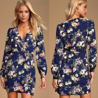 Lulu's NWT Floral Print Wrap Dress