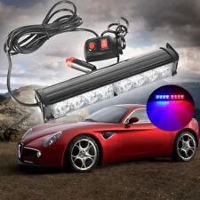 7 Modes 8 LED Red/Blue Car Police Strobe Flash Flashing Light Dash Emergency AU