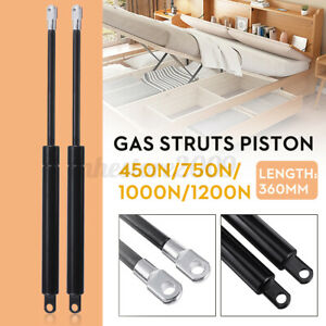 Stainless Steel Gas Struts Piston Rod For Ottoman Bed 450/750/1000/1200N