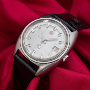 Vintage 1970 RADO Silver Horse 25 Jewels Automatic Mechanical Men's Watch