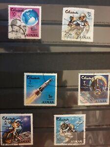 Ajman 1966 Space Achievements 6 stamp set CTO