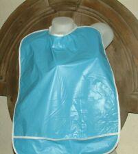AB Adult PLASTIC  BABY BIB BURP  BIB -  BIG ABBL/ ABDL BLUE