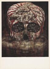 LEA GRUNDIG - ATOMIC WAR * EAST GERMAN SMALL POLITICAL ART PRINT 1975 skull