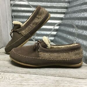 Daniel Green Indoor Outdoor Slipper Leather Blend House Moccasin Brown Size 6