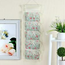 3/5 Pockets Wall Storage Bag Lace Hanging Organizer Sundries Holder Home Useful