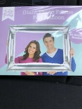 Silver inflatable photo frame foil balloon Photo booth party prop