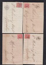 LOTE DE 4 CARTAS  1864.- REUS A SEVILLA Y  REUS A CASTILLEJA DE LA CUESTA.