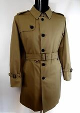 Aquascutum Single Breasted Beige Trench Coat Size 44 Crafted in England