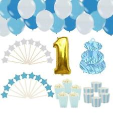 1st First Birthday Balloons Set Baby Party Decoration Kit Boy Blue