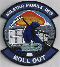 USAF 4th SPACE OPERATIONS SQ PATCH- 'MILSTAR MOBILE OPS'   HOOK & LOOP   COLOR