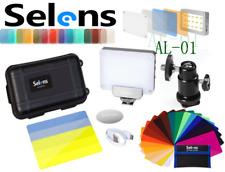Selens AL-01 Pro Magnet Lamp LED Video MIni Flash Light & Color Filter、Ball Head