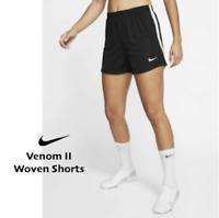 Nike Women's Woven Venom II Soccer Gym Running Short -- Black White size XL