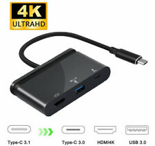 Type C USB 3.1 to USB-C 4K HDMI USB 3.0 Adapter Cable 3 in 1 Hub For Macbook BT