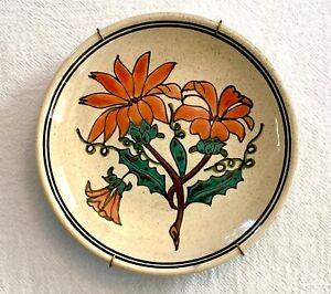 "Vintage Ceramica Bariloche Argentina Ceramic Decorative 6"" Wall Plate w/Hanger"