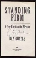 Dan Quayle Signed Book Page Cut Autographed Signature US Vice President